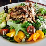 Want a healthier option? Get your pulled pork in a Cobb Salad. Delicious!