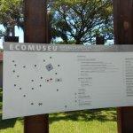Mapa do EcoMuseu identificando as atrações