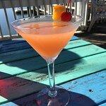 Peach Vodka martini