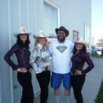 Calgary Stampede Queen & Princesses + some old guy, LOL