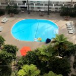 View of the pool from our room (Regency tower)
