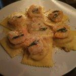 Butternut Squash Ravioli with Prawns