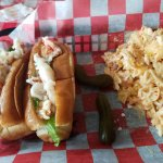 Classic Lobster Rolls, Boom Boom Slaw and sweet gherkins