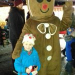 Ethan meeting the gingerbread man