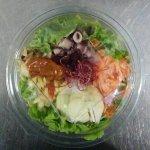 salade et plat du jour à emporter