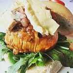 Signature Quo Pork Belly now comes as a burger draped with Camembert.. yummy!