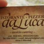 Photo of ristorante pizzeria DA LUCA