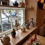 Lovely little convert into a cafe. Lots of improvements made, take away available!