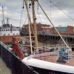 Deep sea trawler on view