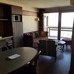 2 bedroom suite with a kitchen and a balcony