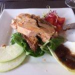 Foie gras maison sur un pain d'épice. Excellent !!!