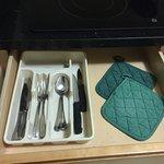 Very simple breakfast, pantry amenities were great