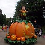 the parade during halloween season