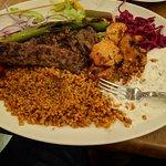 Mix kebab platter