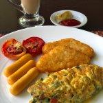 Omelette at hotel restaurant