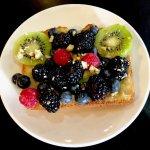 Healthy choice...Very berry toast with banana spread