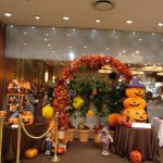 Halloween decoration in hotel lobby