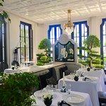 Inside of their fine dining restaurant, La Maison