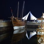 Replica of old pearl shipping 'Dhow' at Scientific Center Kuwait
