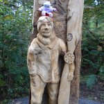 Another wooden sculpture.