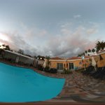 A 360 view outside our bungalow