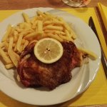 Veal cordon bleu with french fries