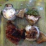 Le plat: veau et divers accompagnements