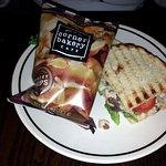 1/2 DC chicken salad sandwich with potato chips
