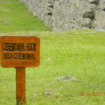 Sign telling us that up ahead was a ceremonial rock. Sacrificial?