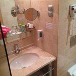 Bathroom of our room in Hotel Lycium