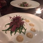 Lovely starters. Wood pigeon closest to the camera.
