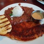 Blackened catfish with red beans & rice