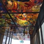 you walk under these amazing ceiling of glass