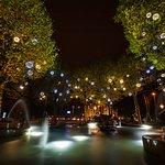 Leidseplein Hotel Fountain at Night