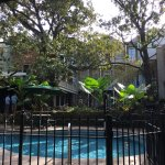 Courtyard w/ pool and surrounding rooms!
