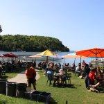 The restaurant is an outdoor restaurant.