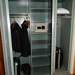 Closet with security safe