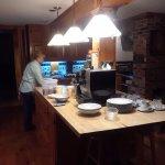 Erin working in her kitchen. Breakfasts were fantastic!