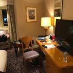 Deluxe Jr. Suite living, bedroom toilet bathroom and hallway