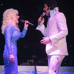 "Dolly Pardon and Elvis Presley are singing ""Mary Did You Know?"""