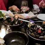 BOWLS OF STEAMED MUSSELS
