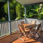 Relax on the verandah by the crystal clear stream