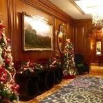 Christmas decorations are beautiful at the Ritz Carlton