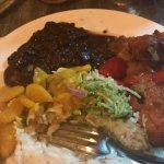 civet zourite et poulet sauce d'huitre