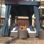 pool cabanas can be rented for a daily or half day fee