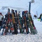 Racks and racks of skis