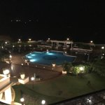 View from suite at night