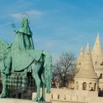 Statue with turrets of Fisherman's Bastion