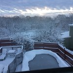 Snow on roof tops outside our room
