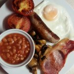 Traditional English breakfast, freshly prepared, cooked to order with locally sourced produce.
